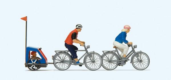 Preiser 10638 - H0 - Familie auf Radtour