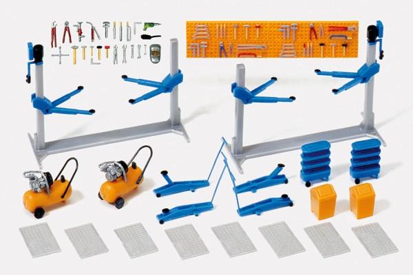 Preiser 17186 - H0 - Einrichtung Kfz-Werkstatt