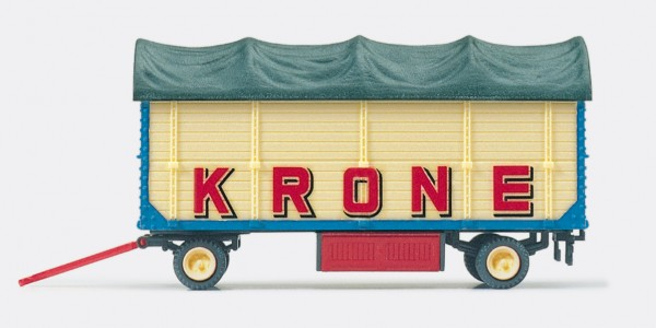 """Preiser 21023 - H0 - Packwagen """"Zirkus Krone"""" mit Plane"""