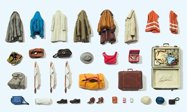 Preiser 17008 - H0 - Kleidungsstücke, Warnwesten, Taschen, etc.