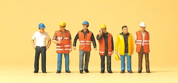 Preiser 10420 - H0 - Arbeiter mit Warnweste