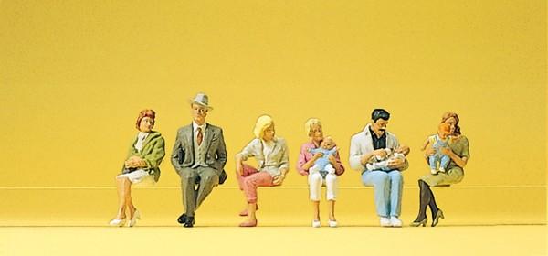 Preiser 10332 - H0 - Sitzende Personen