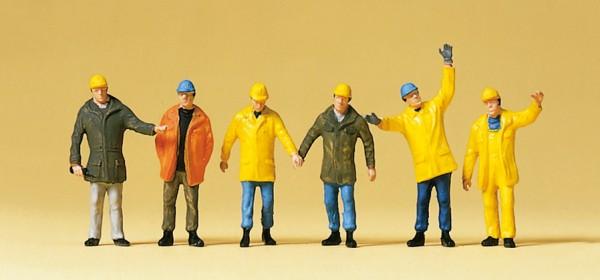 Preiser 10423 - H0 - Arbeiter mit Schutzbekleidung