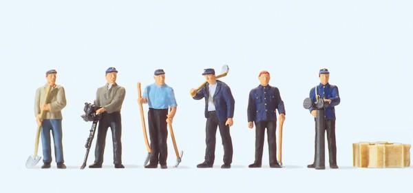 Preiser 10602 - H0 - Stehende Gleisbauarbeiter