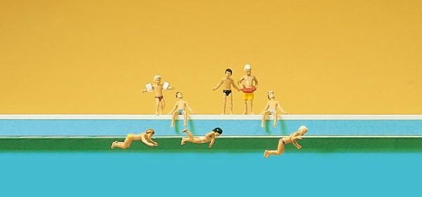 Preiser 79091 - Kinder im Schwimmbad