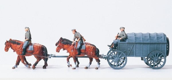 Preiser 16512 - H0 - Schwerer Heeresfeldwagen Hf. 2
