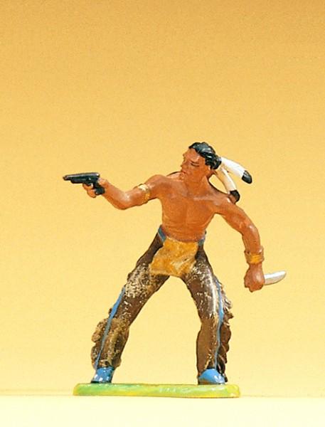Preiser 54606 - 1:25 - Indianer mit Revolver