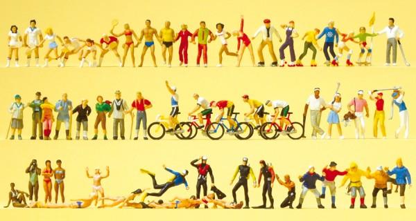 Preiser 13005 - H0 - Sport und Freizeit, 60 Figuren