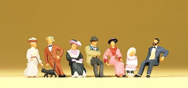 Preiser 12137 - Sitzende Personen um 1900