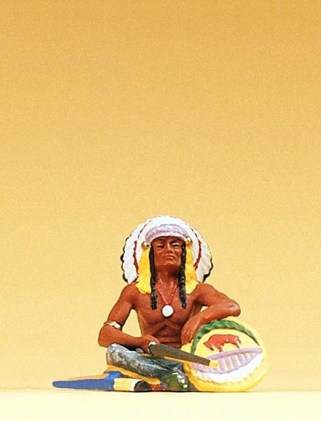 Preiser 54622 - 1:25 - Häuptling sitzend mit Bogen