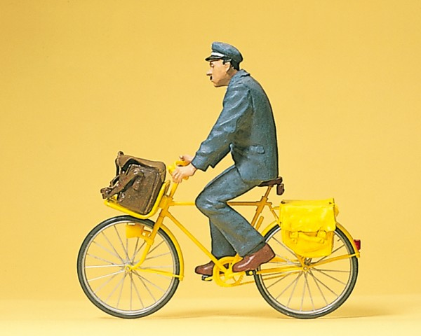 Preiser 45073 - G - Postbote (Frankreich) auf Fahrrad