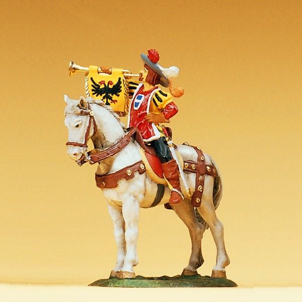Preiser 52352 - Fanfarenbläser zu Pferd