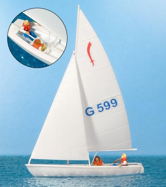 """Preiser 10677 - H0 - Segler (2) Segelboot """"Korsar"""""""