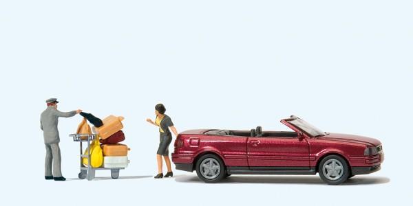 """Preiser 33256 - Audi Cabrio """"Das muß passen"""""""