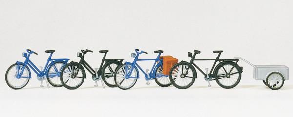 Preiser 17161 - H0 - Fahrräder, Fahrräderanhänger
