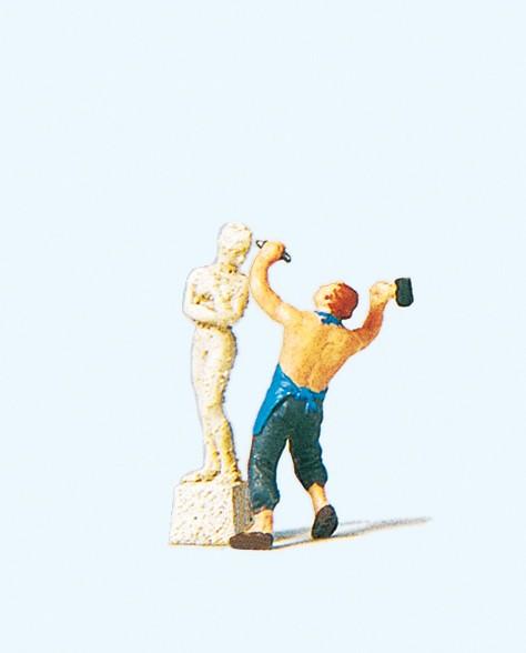 Preiser 29032 - H0 - Bildhauer mit Skulptur