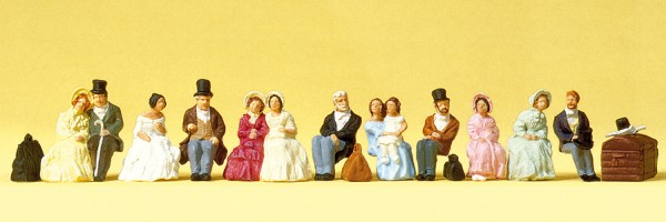 Preiser 12045 - H0 - Sitzende Reisende um 1847