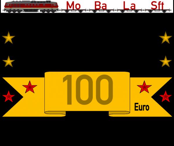 Geschenkgutschein 6 mit dem Wert von 100,- €