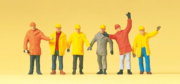 Preiser 14034 - H0 - Arbeiter in Schutzkleidung