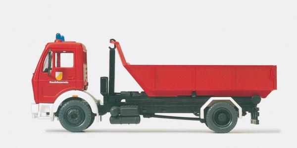 Preiser 31207 - H0 - Wechselladerfahrzeug WLF Feuerwehr MB 1622