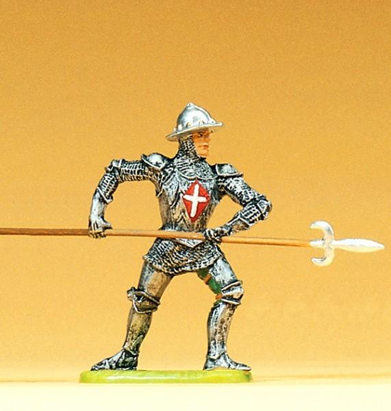 Preiser 52003 - 1:25 - Ritter angreifend mit Spieß