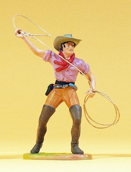 Preiser 54807 - Cowboy stehend Lasso werfend