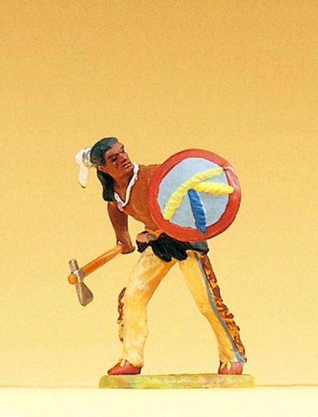 Preiser 54610 - 1:25 - Indianer gehend mit Tomahawk