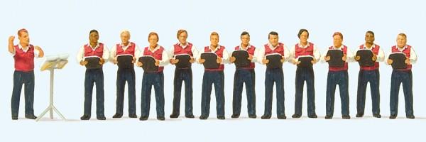 Preiser 10599 - H0 - Männergesangsverein, 12 Miniaturfiguren