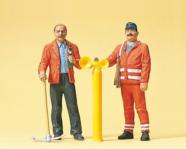 Preiser 45005 - G - Gleisbauarbeiter und Sicherungsposten