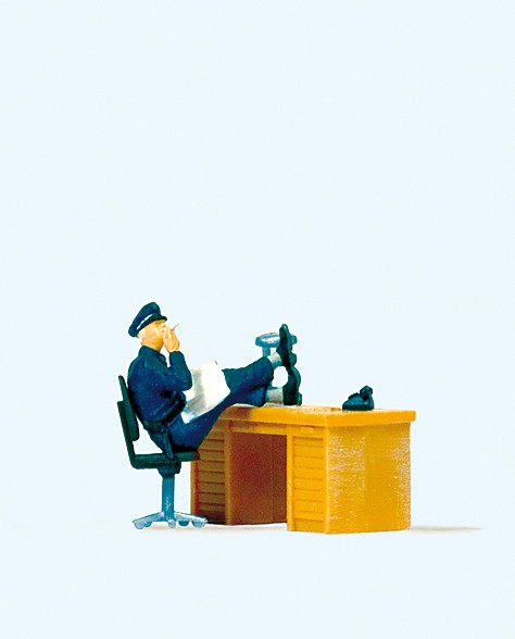 Preiser 29089 - H0 - Sitzender Polizist USA