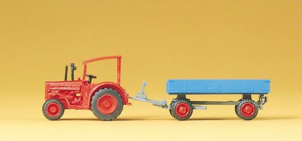 Preiser 79502 - Hanomag-Schlepper mit Anhänger