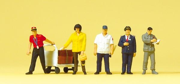 Preiser 10571 - H0 - Chinesisches Bahnpersonal, Reisende