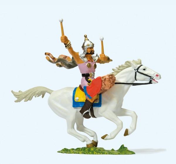 Preiser 50475 - 1:25 - Hunne zu Pferd, Trommler