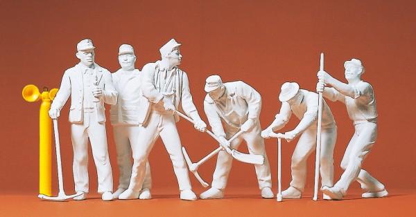Preiser 45182 - G - Gleisbauarbeiter, 6 Figuren unbemalt