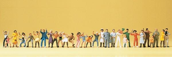 Preiser 14414 - H0 - Volksfestbesucher, 30 Figuren handbemalt