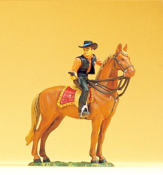 Preiser 54823 - 1:25 - Sheriff zu Pferd mit Revolver