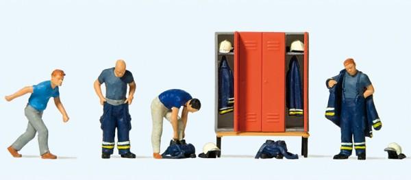 Preiser 10642 - H0 - Feuerwehrmänner in moderner Einsatzkleidung