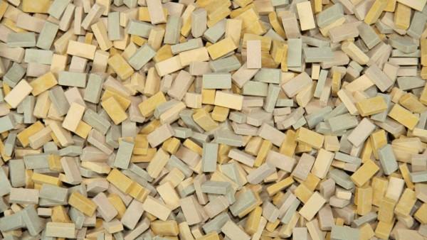 Juweela 28051 - H0 - ~3.000x Ziegel (NF) beige mix