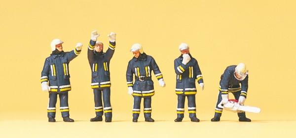 Preiser 10486 - H0 - Feuerwehrmänner in moderner Einsatzkleidung