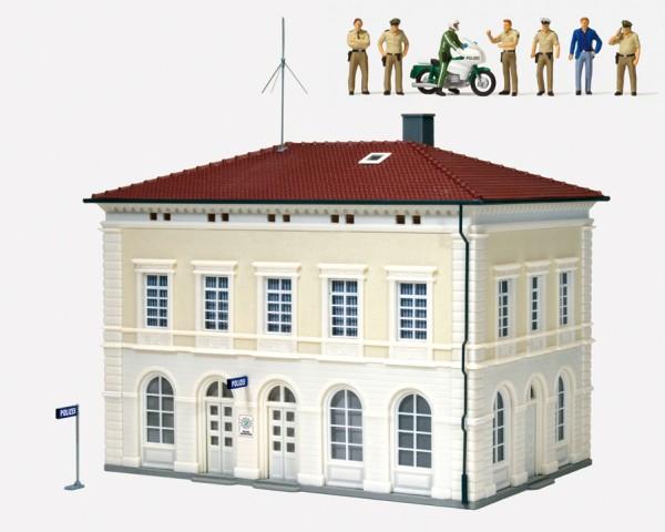 Preiser 19000 - H0 - Polizeiwache, Polizeibeamte und Zubehör