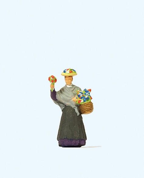 Preiser 28106 - H0 - Blumenverkäuferin