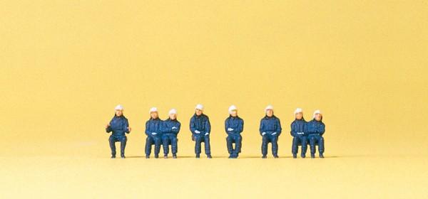 Preiser 79172 - Sitzende Feuerwehrleute