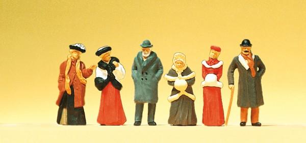 Preiser 12197 - H0 - Passanten in winterlicher Kleidung um 1900