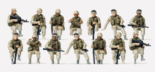 Preiser 16564 - H0 - US-Army modern, Fahrer, Aufsitzer