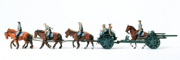 Preiser 16513 - H0 - Bespannte leichte Feldhaubitze 10,5 cm leFH