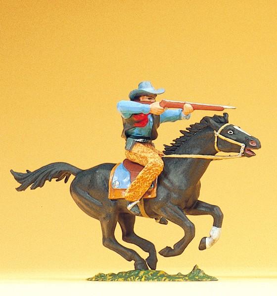 Preiser 54821 - Cowboy reitend mit Gewehr