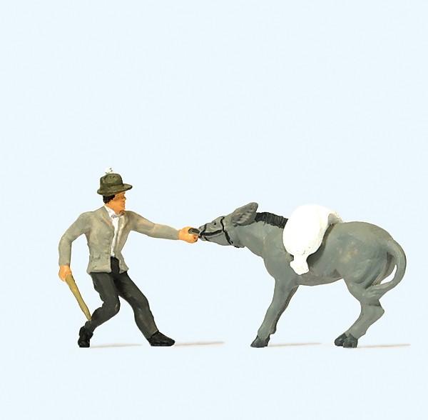 Preiser 29087 - H0 - Störrischer Esel