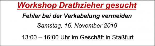 """MoBaLa-Sft - Workshop 11 - """" Drahtzieher gesucht """" am Samstag, 16.11.2019"""