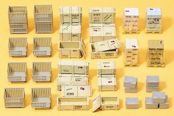 Preiser 17110 - H0 - Gitterboxpaletten und anderes Ladegut