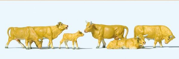 Preiser 10147 - H0 - Kühe hellbraun